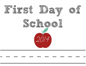 write your own name first day of school printable