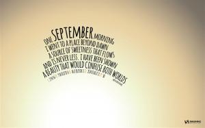 One September Morning-September 2013 Calendar Wallpaper