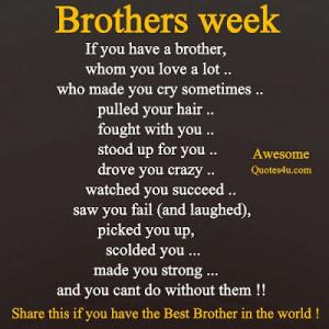 BROTHERS WEEK