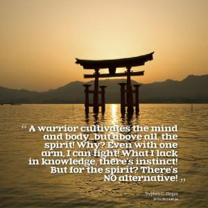 warrior spirit quotes