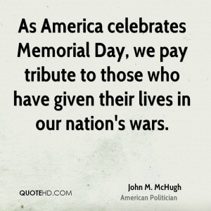 As America celebrates Memorial Day, we pay tribute to those who have ...