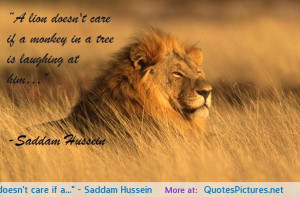 Saddam Hussein motivational inspirational love life quotes sayings ...