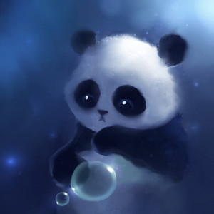 Cute panda iPad wallpaper