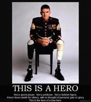 Motivational Poster- about a war hero