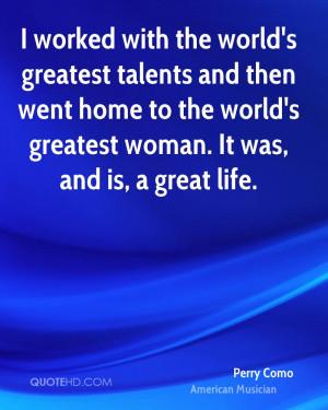 Perry Como Quotes