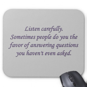 Honesty When Someone Answers Question Mouse Mats Zazzle
