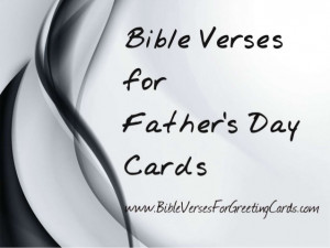 Bible Verses For Father's Day
