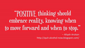 positive thinking should embrace reality