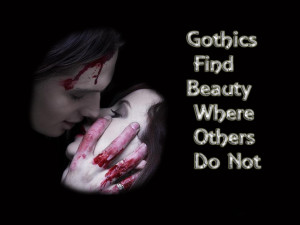 Gothic love wallpaper
