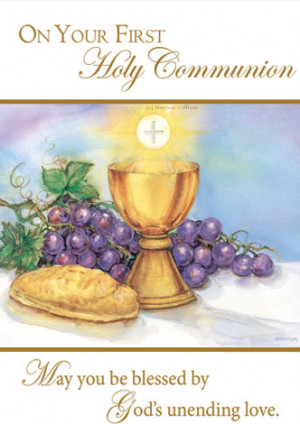 First Communion Mass Card