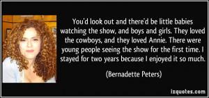 More Bernadette Peters Quotes