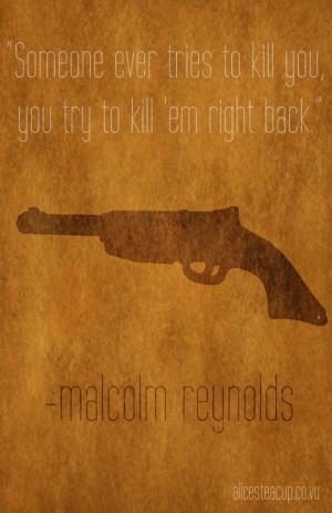 Firefly (Malcolm Reynolds): Minimalist Poster