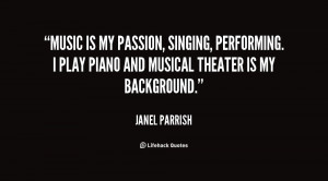 Music is my passion, singing, performing. I play piano and musical ...