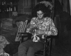 Arlo Guthrie and a friend in the back room at Caffe Lena (Photo by ...
