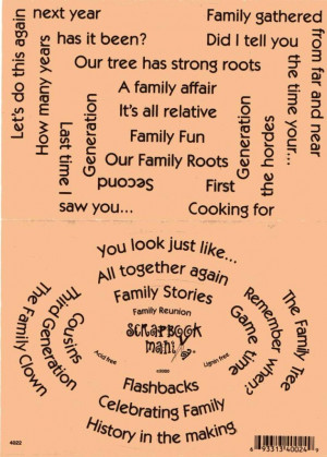 Details about Scrapbook Mania Stickers - FAMILY REUNION Words Sayings