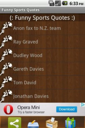 Aumentar - Captura de pantalla de Funny Sports Quotes para Android