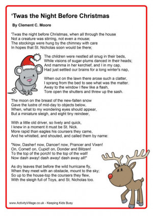 ... one is the poem twas the twas the night before twas the night before