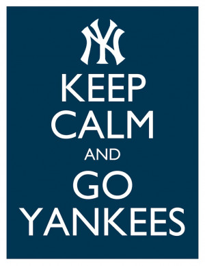 ... Go Yankees - 8x10 Picture - Wall Hanging - Blue New York Baseball MLB