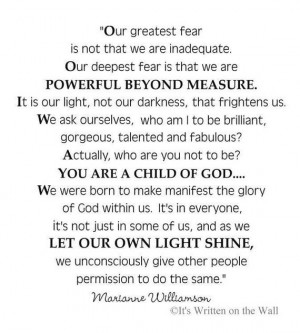 Akeelah And The Bee Quote Marianne williamson/ akeelah