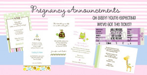 Personalized Pregnancy Announcement Cards in many themes and styles ...