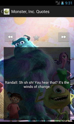 quotations of monster inc monsters inc is a 2001 american computer ...