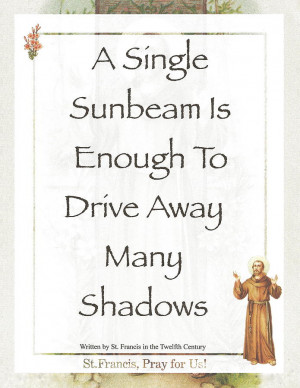 Single Sunbeam By St. Francis Of Assisi Mixed Media