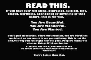 Motivational Wallpaper on Depressed: if you have ever felt alone ...