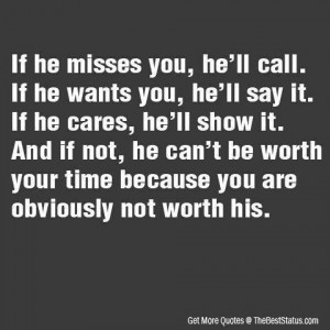 If he cares...
