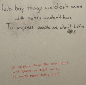 Epic win pics bathroom graffiti fight club quote