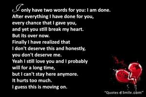 You Break My Heart But I Still Love You