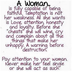 That for sure is some women! Not myself,when I make a commitment…. I ...