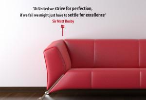 Sir Matt Busby Excellence Quote Wall Sticker