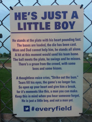 ... Poem Spreads To Youth Baseball Fields Around The Country (PHOTO