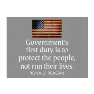 Ronald Reagan Quote on Government Lawn Signs