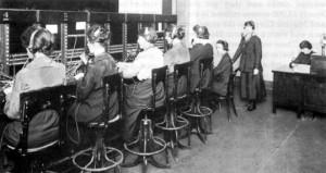 telephone operators during World War I