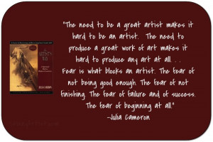 Quotes About Being An Artist | The Artist's Way
