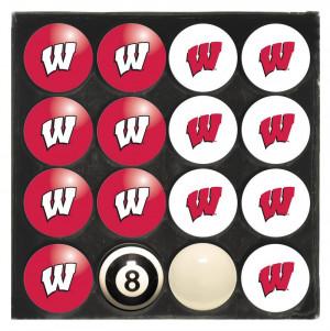 Wisconsin Badgers Billiard Ball Set