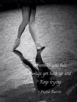 Ballet pointe dancer quote