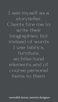 interior design quote - meredith heron interview - simplifiedbee.com # ...
