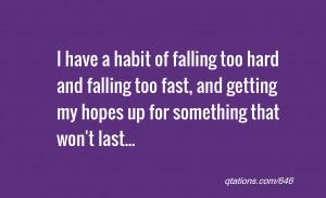Habit of falling too hard Image
