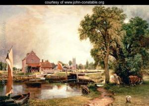 Dedham Lock and Mill, 1820 - John Constable - www.john-constable.org