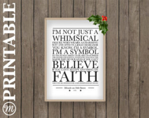 christmas film miracle on 34th stre et quotes winter print pdf ...