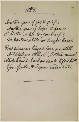 1884 Poem by Christina Rossetti, Portrait of Christina and her Mother ...