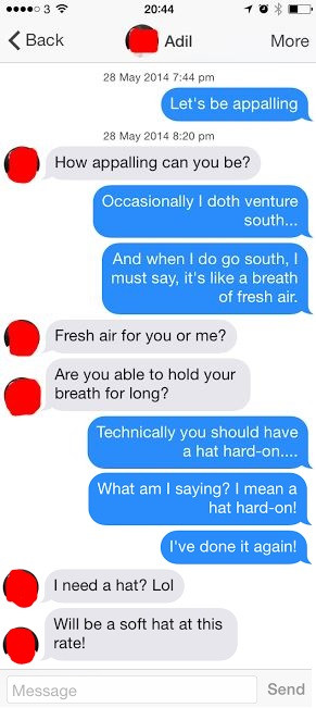 ... when you chat up potential dates using only Alan Partridge quotes