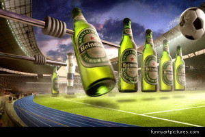 Ads & Signs , Foosball Heineken stadium, Beer bottle stadium produce ...