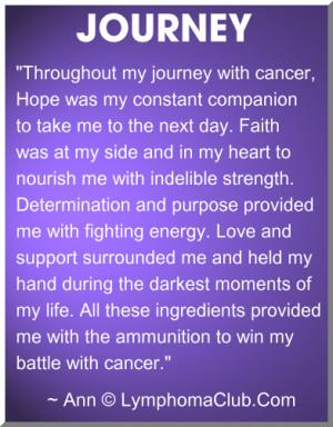 ammunition to win my battle with cancer ann lymphoma survivor