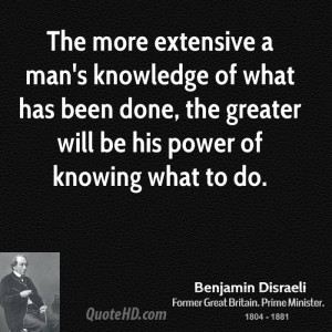 Benjamin Disraeli Power Quotes