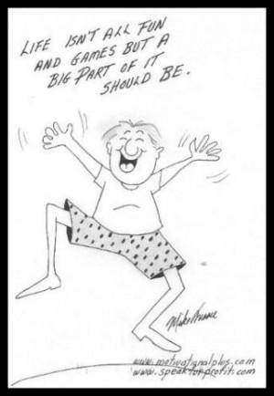 Life Lesson Cartoon Fun and Games