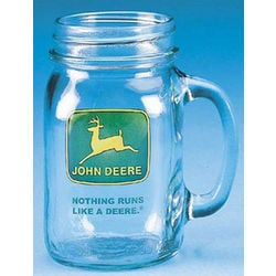 John Deere Famous Quote Drinking Jar