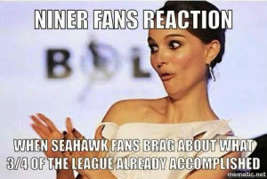 Niner Fans Reaction, when seahawk Fans Brag about what 3/4 of the ...